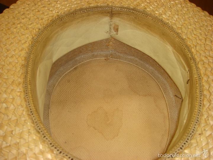 Antigüedades: ANTIGUO Y AUTENTICO SOMBRERO DE PAJA CANOTIER. C1920 - Foto 8 - 57846569