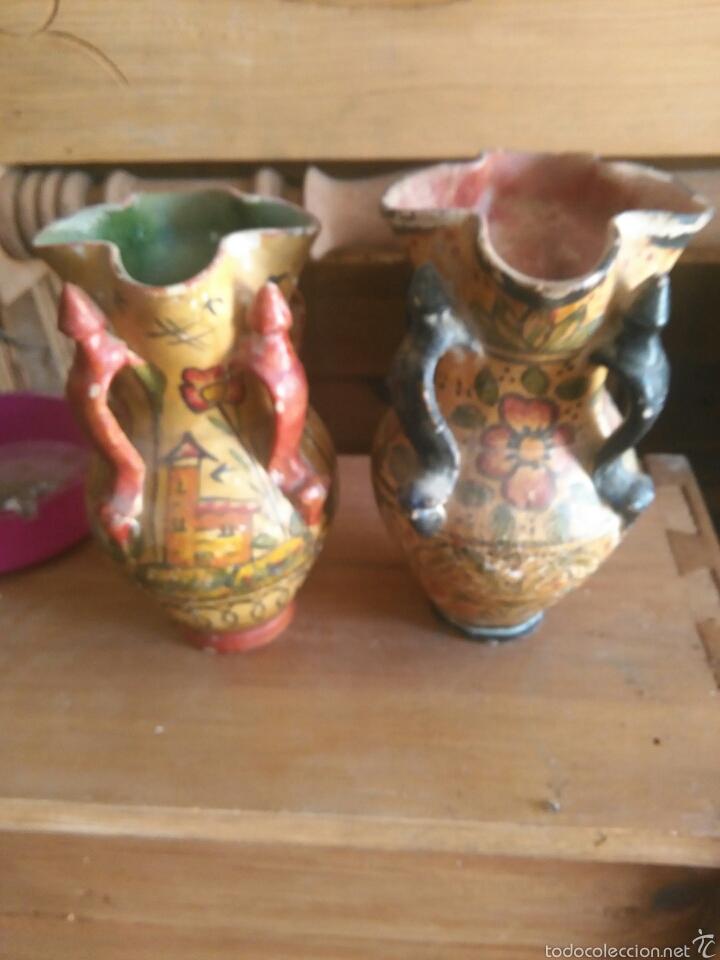 Antigüedades: Pareja de jarras antiguas de andujar - Foto 7 - 57850154