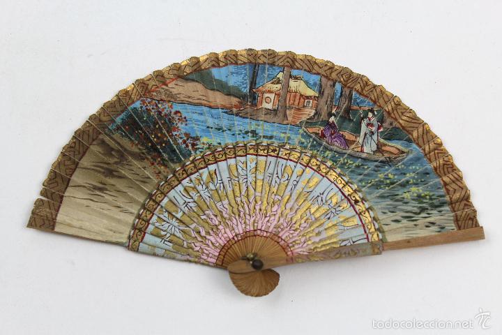 Abanico en miniatura con pais de papel pintado comprar abanicos antiguos en todocoleccion - Papel pintado a mano ...