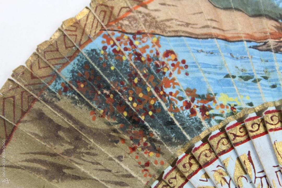 Abanico en miniatura con pais de papel pintado comprar - Papel pintado a mano ...