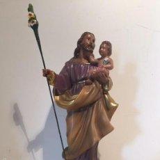 Antigüedades: SAN JOSE Y NIÑO JESUS DE ESTUCO.. Lote 57854869