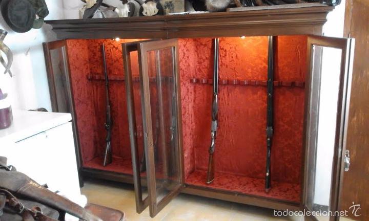 mueble armero antiguo para 22 armas comprar armarios