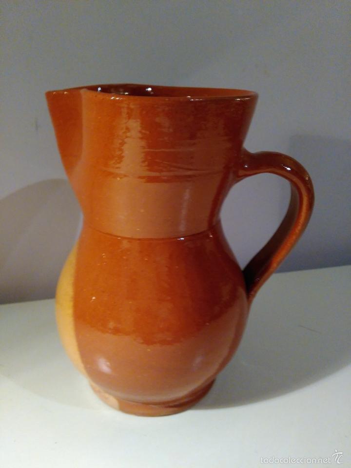 Antigüedades: Jarra de cerámica vitrificada. Recuerdo de Ciudad Encantada. - Foto 2 - 57863316