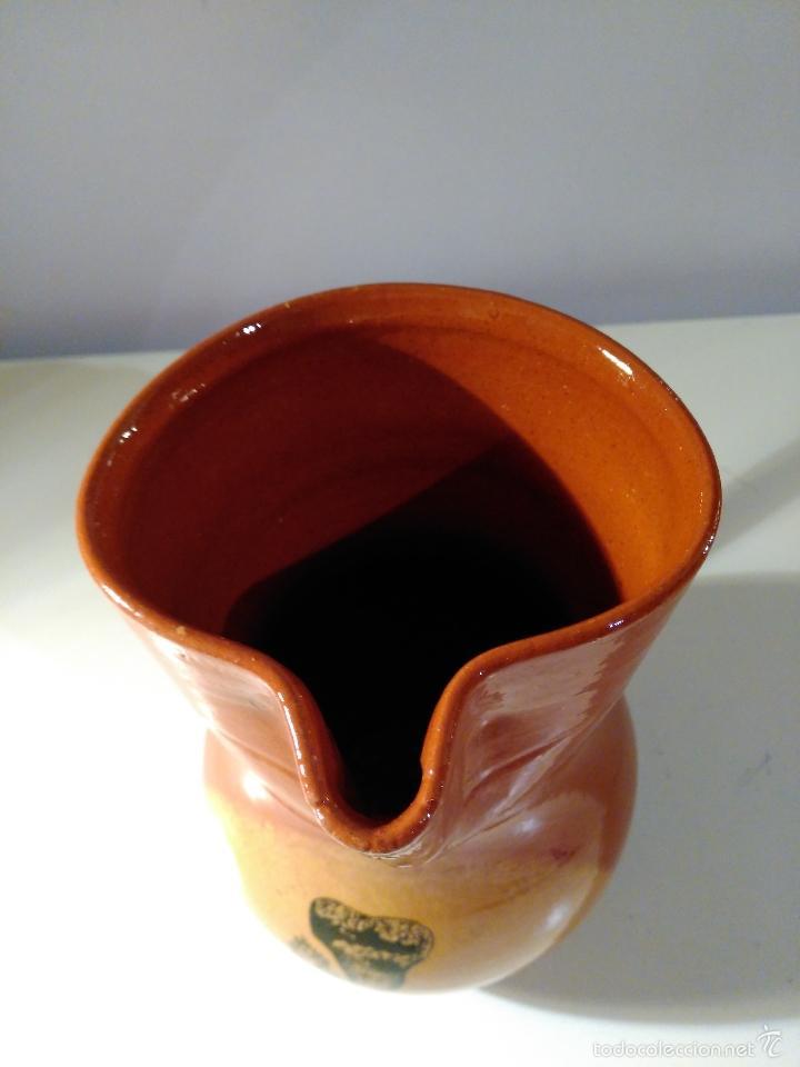 Antigüedades: Jarra de cerámica vitrificada. Recuerdo de Ciudad Encantada. - Foto 4 - 57863316