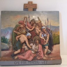 Antiquitäten - NOVENA ESTACION O PASO DEL VIA CRUCIS EN ESTUCO OLOT. - 57863863