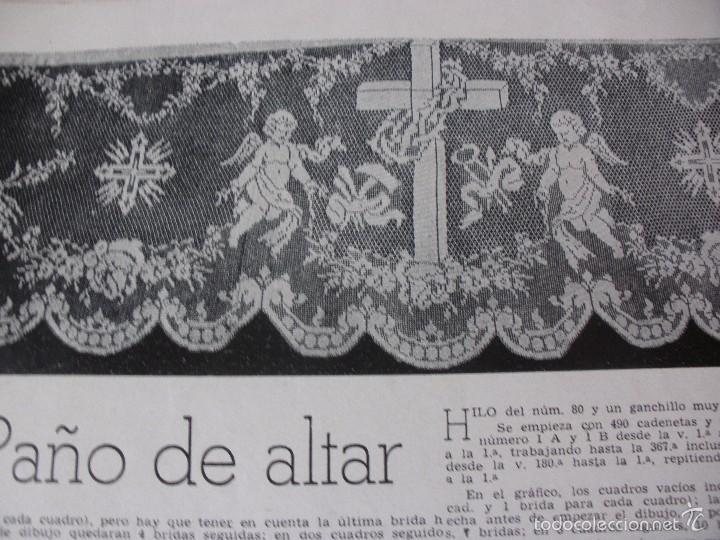 antiguo patrón para hacer un paño de altar a pu - Comprar ...