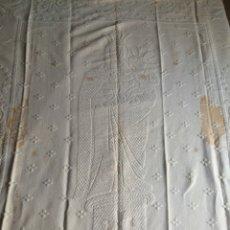Antigüedades: ESTANDARTE PENDÓN ANTIGUO DE LA VIRGEN DEL PILAR. Lote 57865543