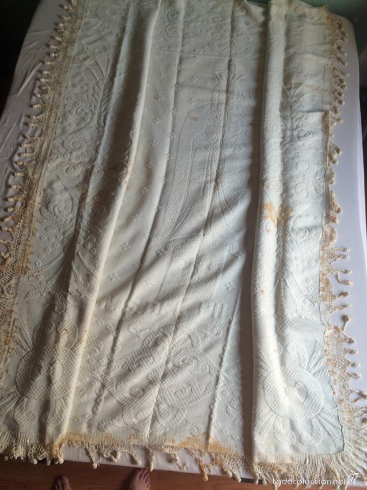 Antigüedades: Estandarte pendón antiguo de la Virgen del Pilar - Foto 3 - 57865543