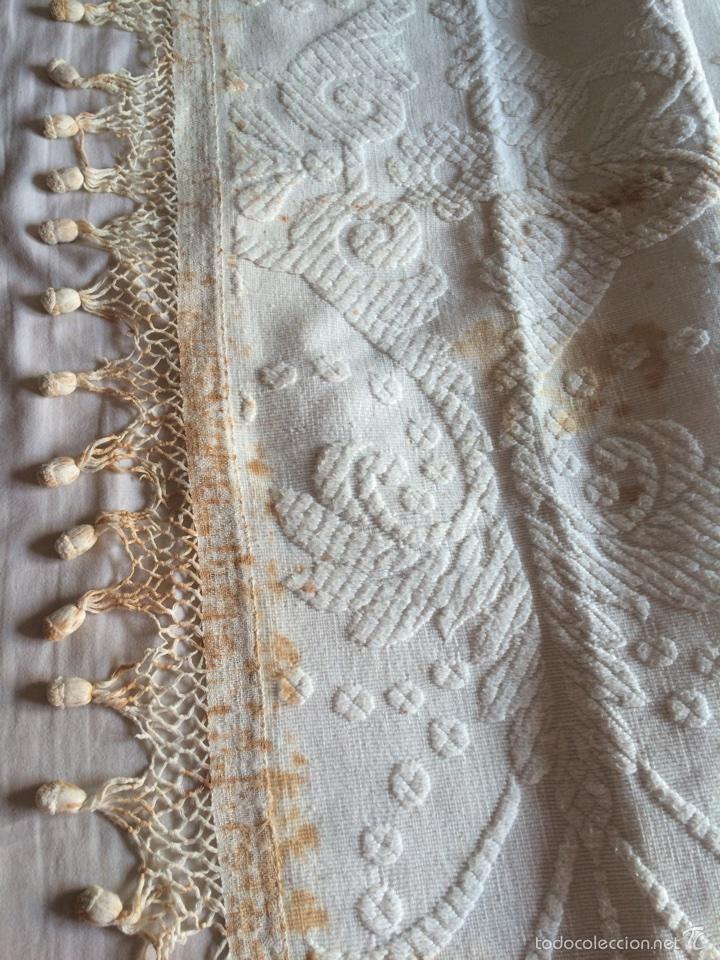 Antigüedades: Estandarte pendón antiguo de la Virgen del Pilar - Foto 4 - 57865543