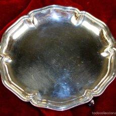 Antigüedades: BANDEJA TRÍPODE. PLATA DE LEY PUNZONADA. ESTILO ROCOCÓ. EUROPA. XVIII(?). Lote 57867408