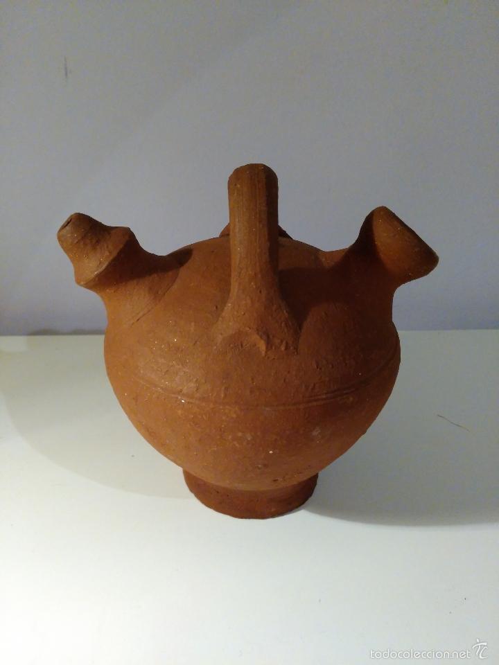 Antigüedades: Porrón o vasija de barro. Antiguo. - Foto 2 - 116770436