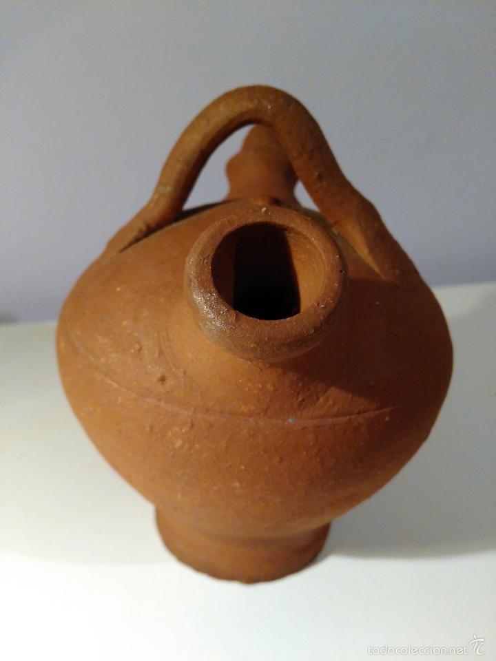 Antigüedades: Porrón o vasija de barro. Antiguo. - Foto 3 - 116770436