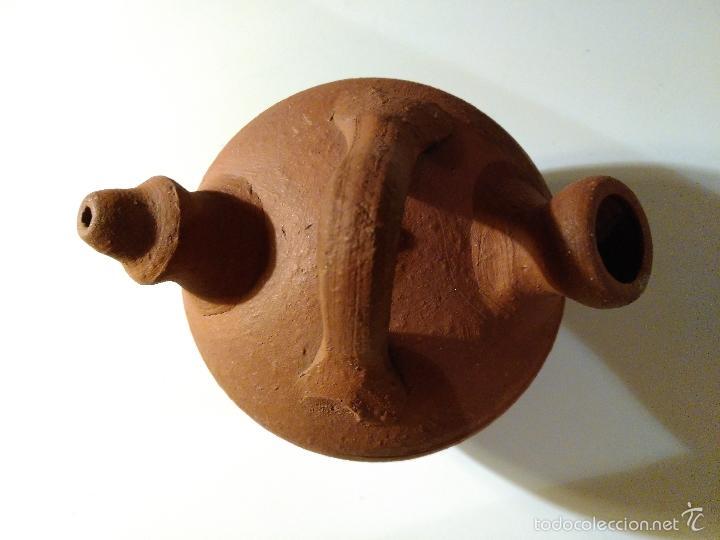 Antigüedades: Porrón o vasija de barro. Antiguo. - Foto 5 - 116770436