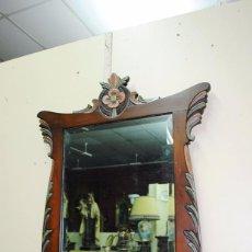 Antigüedades: ESPEJO ANTIGUO DE MADERA, ESTILO ISABELINO. Lote 57871086