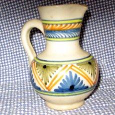 Antigüedades: PEQUEÑA JARRA DE TALAVERA.FIRMADA CHACÓN. Lote 57873025