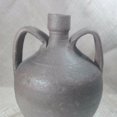 Antigüedades: PEQUEÑA Y MUY ANTIGUA BOTIJA DE CAMPO PARA EL AGUARDIENTE O EL VINO - PROCEDENCIA DESCONOCIDA -. Lote 57876346