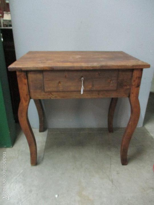 Antigua mesa rustica isabelina auxiliar p comprar - Mesas auxiliares antiguas ...