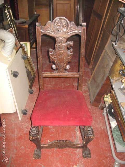 Antigua silla de madera restaurar comprar sillas antiguas en todocoleccion 57886692 - Restaurar sillas de madera ...