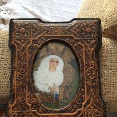 Antigüedades: ANTIGUO MARCO DE CUERO REPUJADO. Lote 57887183