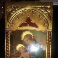 Antigüedades: TABLA RELIGIOSA POLICROMADA. Lote 57888343