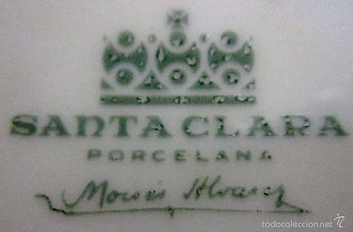 Antigüedades: EXPRIMIDOR DE CITRICOS DE PORCELANA SANTA CLARA - Foto 7 - 57895717