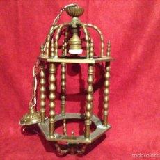 Antigüedades: LAMPARA DE BRONCE PARA TECHO. Lote 57896283