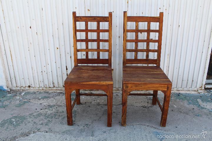 DOS SILLAS EN MADERA (Antigüedades - Muebles Antiguos - Sillas Antiguas)