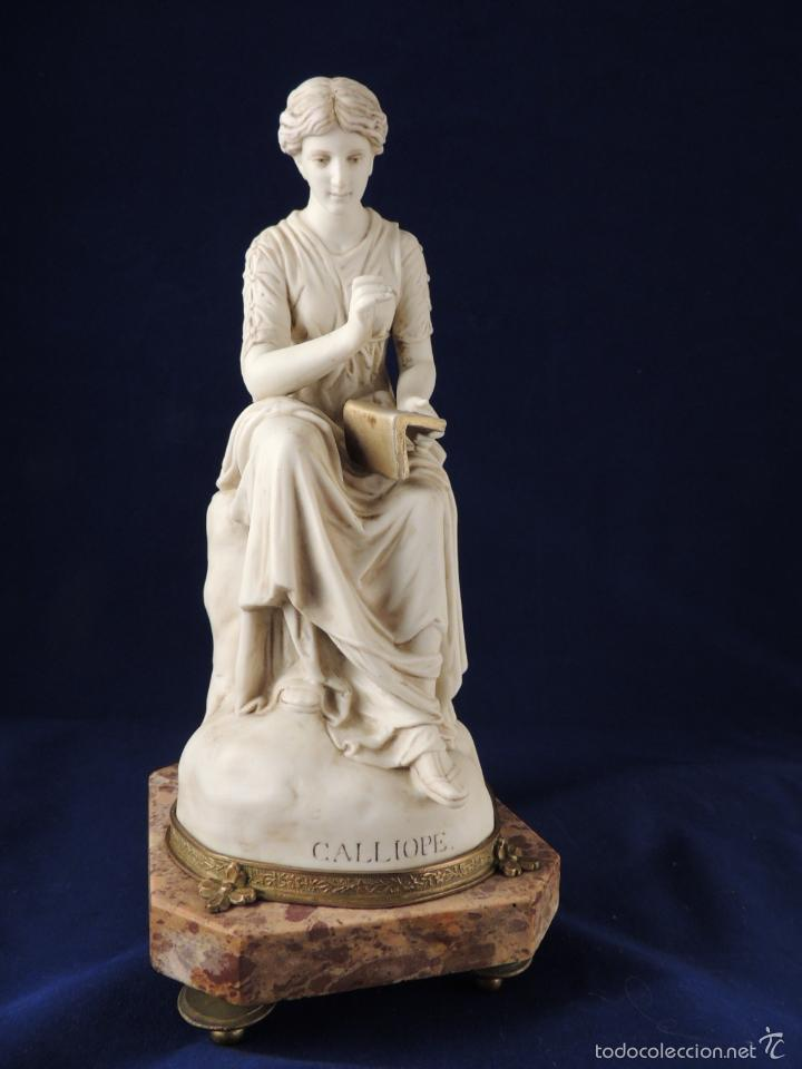 Antigüedades: FANTASTICA FIGURA DE PORCELANA SOBRE BASE DE MARMOL S. XIX - Foto 2 - 57900556