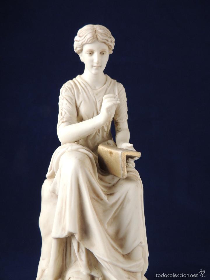 Antigüedades: FANTASTICA FIGURA DE PORCELANA SOBRE BASE DE MARMOL S. XIX - Foto 3 - 57900556