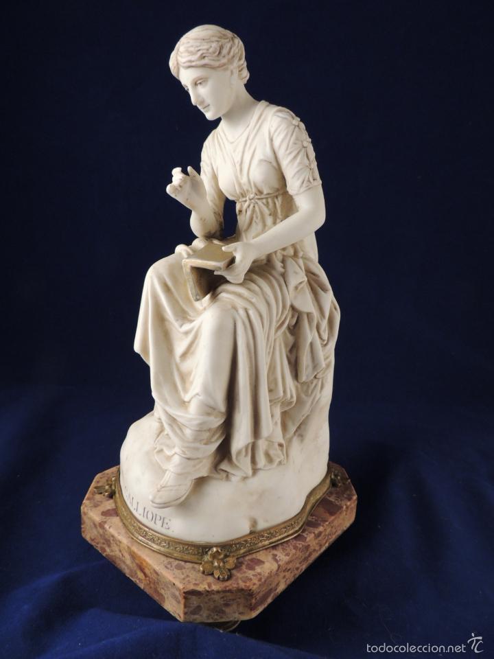 Antigüedades: FANTASTICA FIGURA DE PORCELANA SOBRE BASE DE MARMOL S. XIX - Foto 5 - 57900556