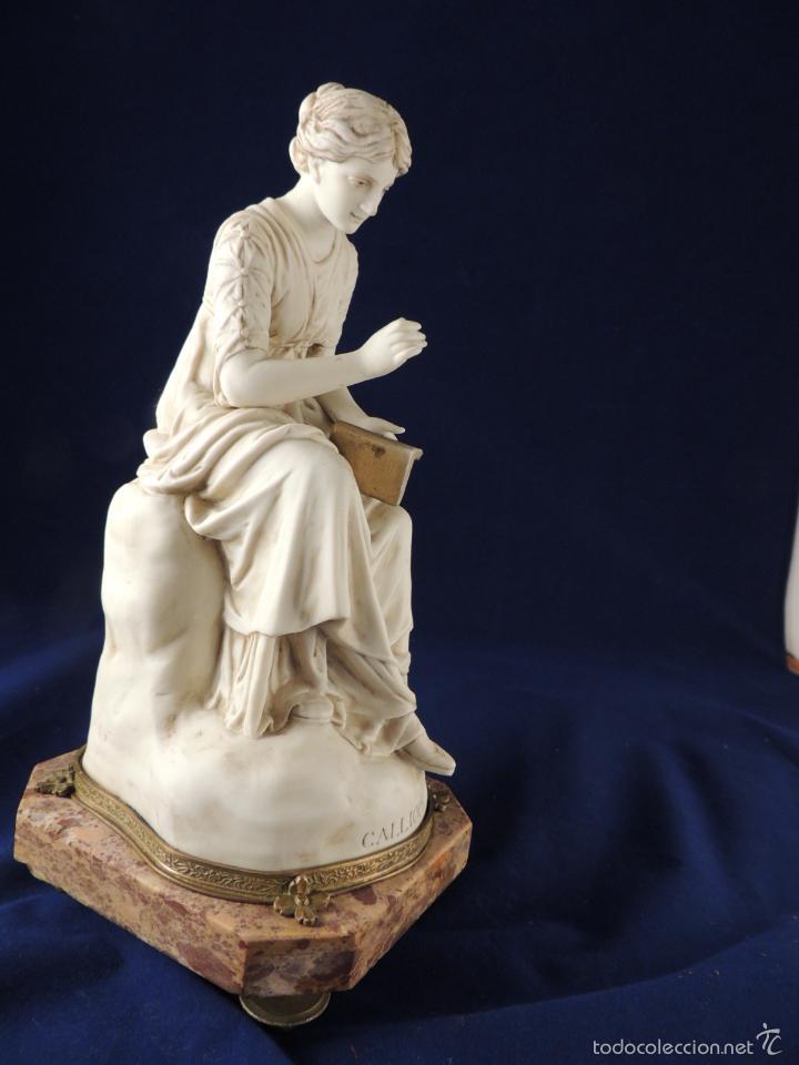 Antigüedades: FANTASTICA FIGURA DE PORCELANA SOBRE BASE DE MARMOL S. XIX - Foto 9 - 57900556