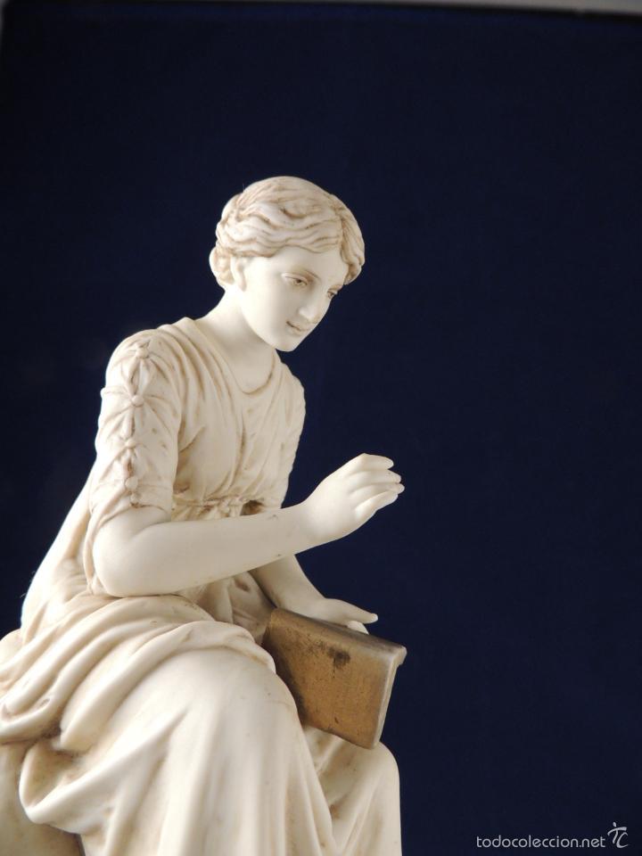 Antigüedades: FANTASTICA FIGURA DE PORCELANA SOBRE BASE DE MARMOL S. XIX - Foto 10 - 57900556