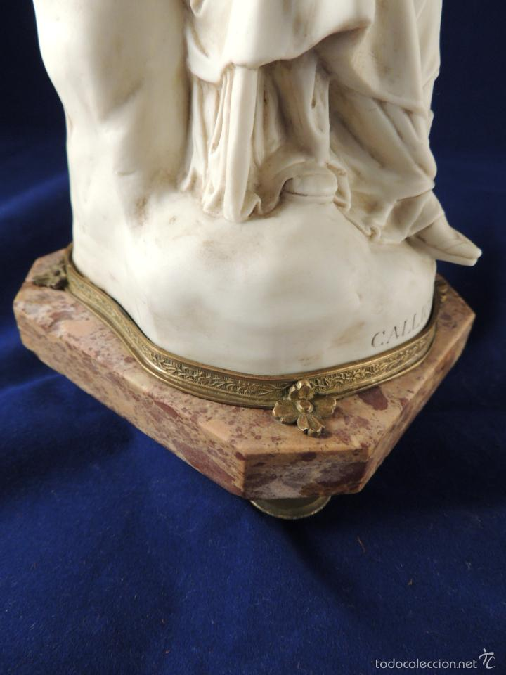 Antigüedades: FANTASTICA FIGURA DE PORCELANA SOBRE BASE DE MARMOL S. XIX - Foto 11 - 57900556