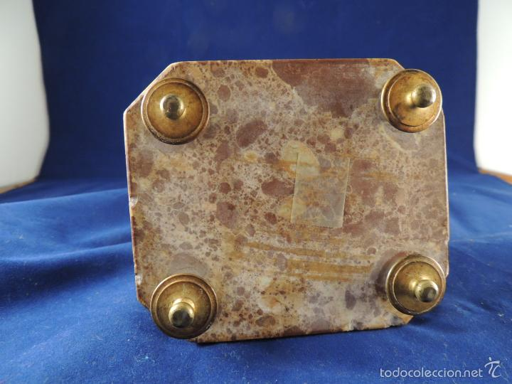 Antigüedades: FANTASTICA FIGURA DE PORCELANA SOBRE BASE DE MARMOL S. XIX - Foto 14 - 57900556