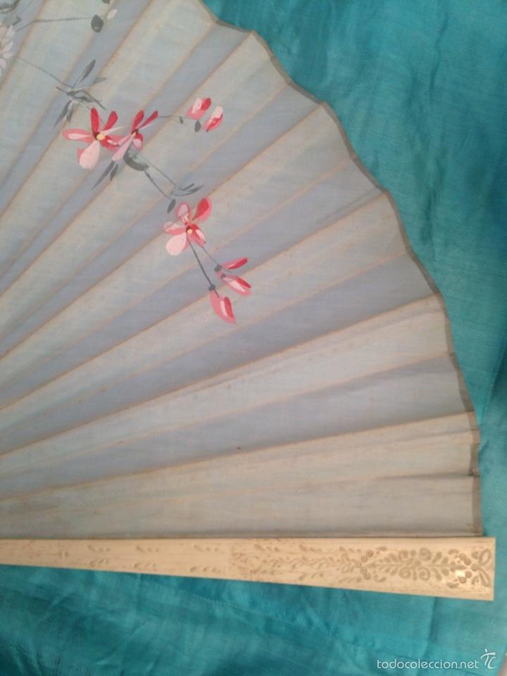 Abanico peric n de hueso y tela del siglo xix comprar for Telas marfil malaga
