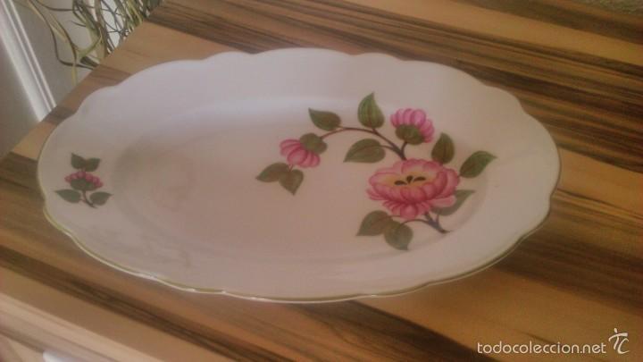 Preciosa fuente de porcelana, trischenreuth babaria.decoracion flores ., usado segunda mano