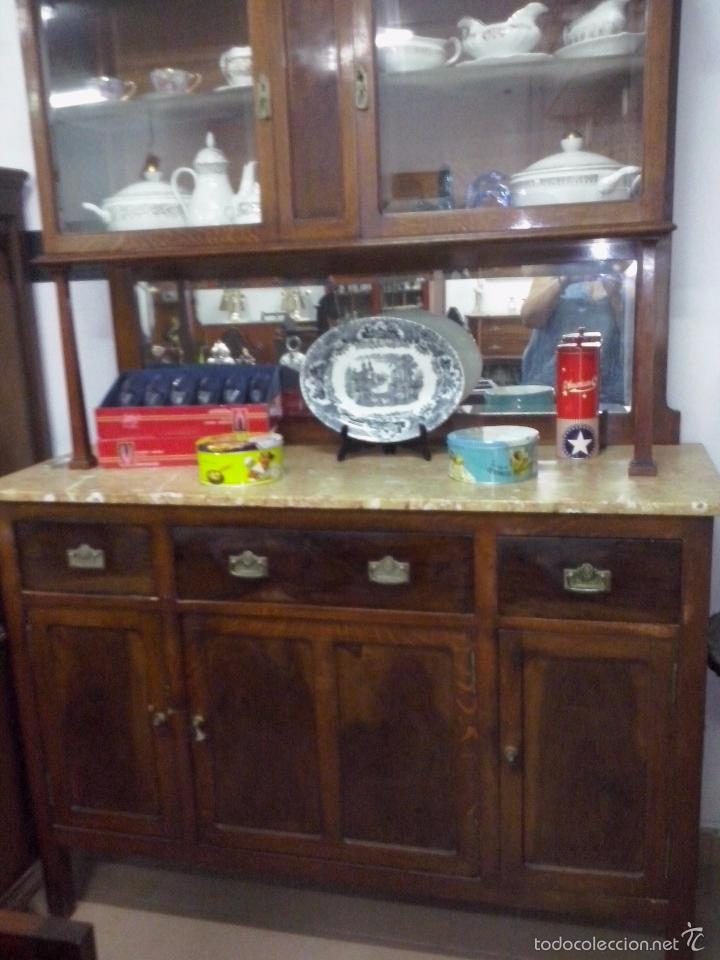 Armario Metalico Barato ~ alacena aparador de cocina con marmol antiguo Comprar Aparadores Antiguos en todocoleccion