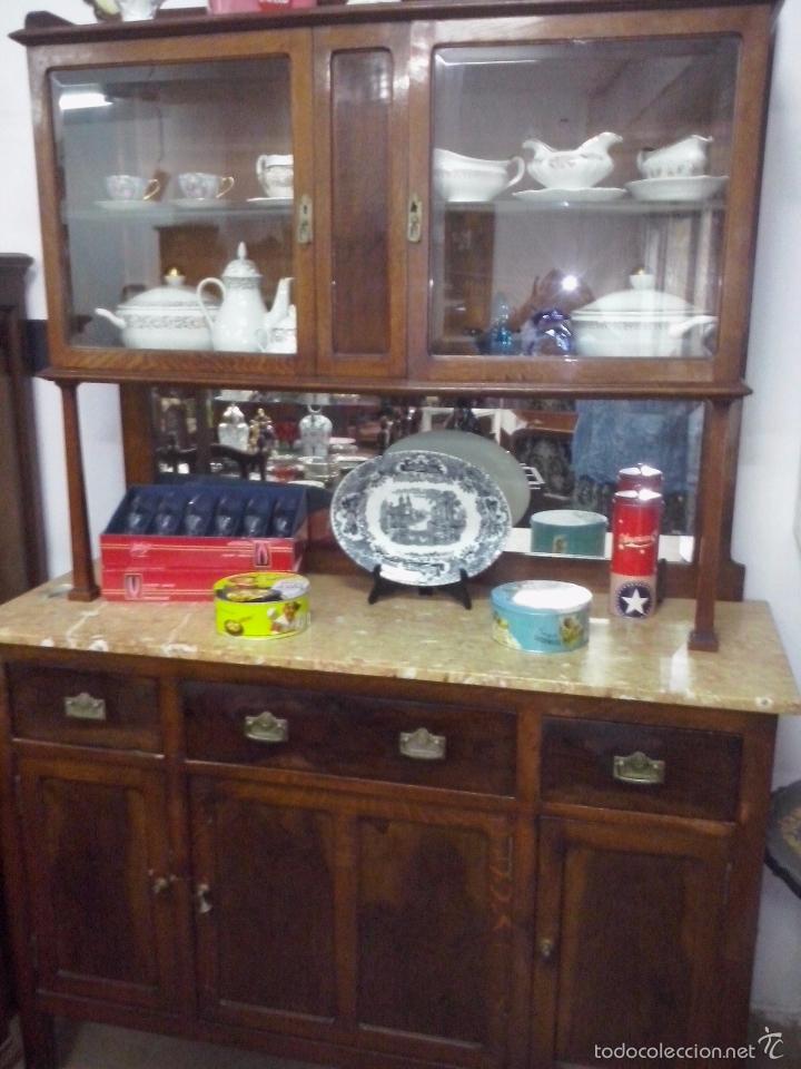 Armario Antiguo Pintado ~ alacena aparador de cocina con marmol antiguo Comprar Aparadores Antiguos en todocoleccion