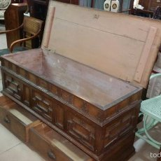 Antigüedades: ARCON DE NOVIA ANTIGUO CON LLAVES. Lote 57917265