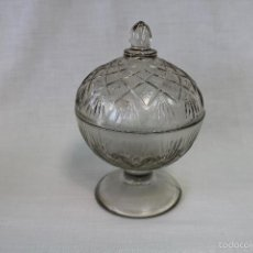 Antigüedades: BOMBONERA EN CRISTAL DE SANTA LUCIA - CARTAGENA. Lote 164379498
