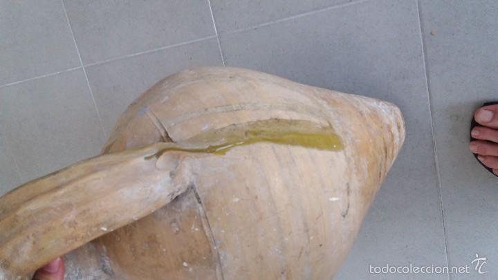 Antigüedades: Cántaro antiguo ceramica con chorreo de vidriado de Úbeda Jaen - Foto 5 - 57925283