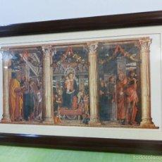Antigüedades: RETABLO DE SAN ZENÓN MANTEGNA - IGLESIA DE SAN ZENÓN DE VERONA - ENORME CUADRO ENMARCADO A TODO LUJO. Lote 57930529
