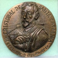 Antigüedades: MEDALLA EN BRONCE MACIZO , PADRE CRISTÓBAL DE STA . CATALINA .. Lote 57940773