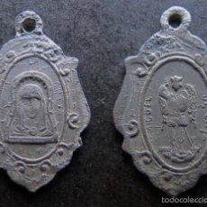Antiguidades: MEDALLA RELIGIOSA ANTIGUA NUESTRA SEÑORA DE LA CUEVA Y SAN MIGUEL DE LIRIA CASTELLON. Lote 57941506