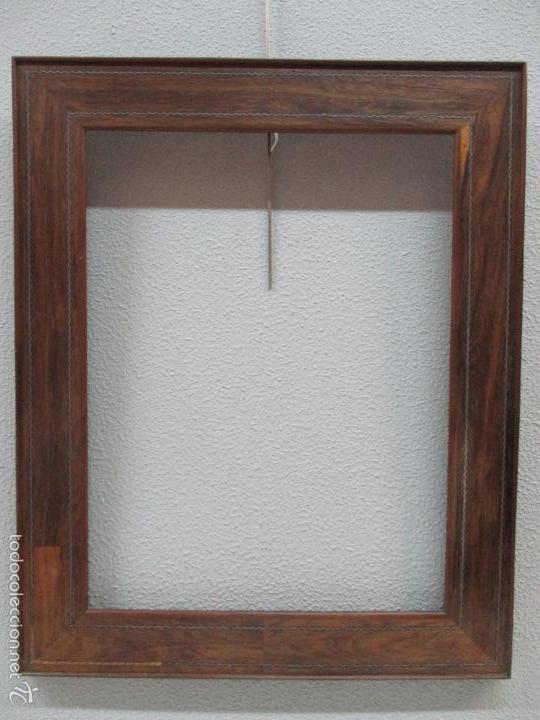 Antiguo marco isabelino madera de jacarand comprar for Espejos decorativos marco de madera