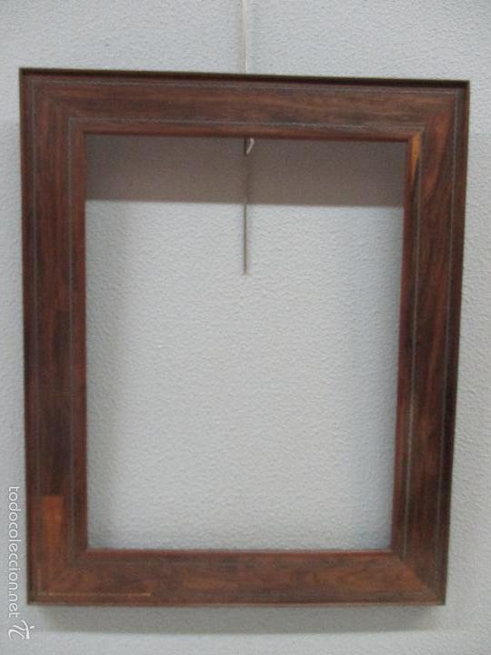 Antigüedades: Antiguo Marco - Isabelino - madera de jacarandá - para óleo, espejo - S. XIX - Foto 2 - 57949794