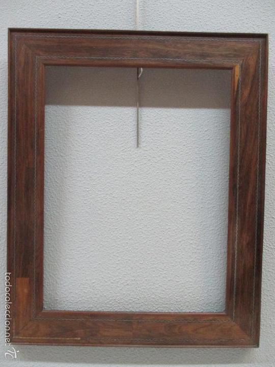 Antigüedades: Antiguo Marco - Isabelino - madera de jacarandá - para óleo, espejo - S. XIX - Foto 3 - 57949794