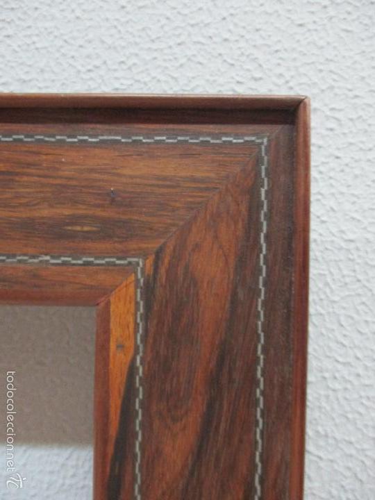 Antigüedades: Antiguo Marco - Isabelino - madera de jacarandá - para óleo, espejo - S. XIX - Foto 4 - 57949794