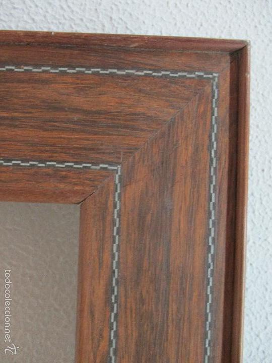 Antigüedades: Antiguo Marco - Isabelino - madera de jacarandá - para óleo, espejo - S. XIX - Foto 5 - 57949794