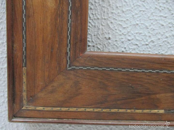 Antigüedades: Antiguo Marco - Isabelino - madera de jacarandá - para óleo, espejo - S. XIX - Foto 6 - 57949794